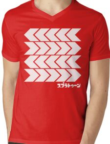Splatoon Takoroka Red Vector Tee Mens V-Neck T-Shirt
