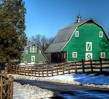 Green Barns on the Montpelier Farm by Terence Russell