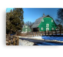 Green Barns on the Montpelier Farm Canvas Print