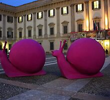 Milan. Snail Statues at Piazza Duomo. Italy 2010 by Igor Pozdnyakov