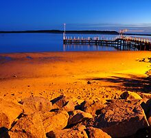 Dusk over Inverloch pier by Steph Enbom