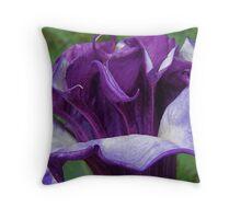 Purple Frills. Throw Pillow
