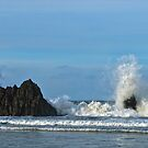 Crashing waves, Playa de San Antolin, Asturias, Spain by Andrew Jones