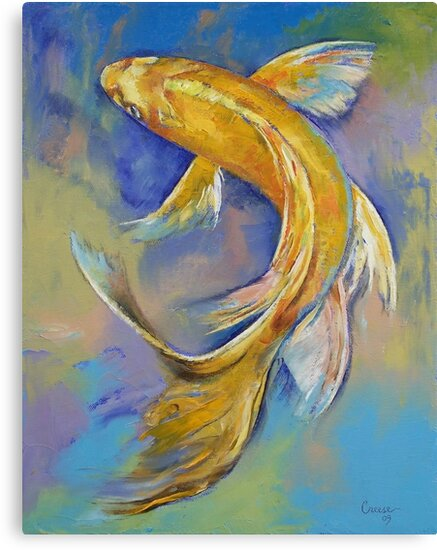 Orenji Butterfly Koi by Michael Creese