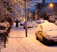 My Snowy Street: Chatsworth Way, West Norwood, London. UK by DonDavisUK