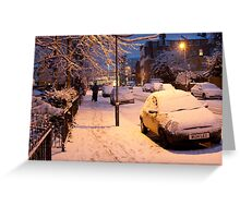 My Snowy Street: Chatsworth Way, West Norwood, London. UK Greeting Card