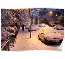 My Snowy Street: Chatsworth Way, West Norwood, London. UK Poster