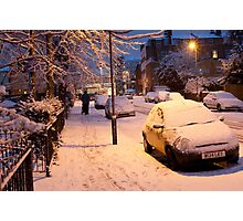 My Snowy Street: Chatsworth Way, West Norwood, London. UK Photographic Print
