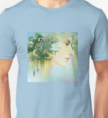 In the Fluter of Wings-In the Silence of Thoughts Unisex T-Shirt