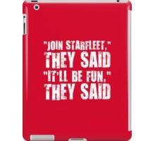 Starfleet fun. iPad Case/Skin