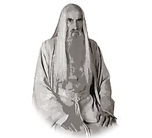 Saruman Cutout Print Design Photographic Print