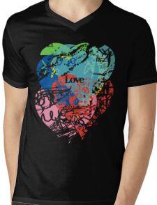 Love hearts  dark Mens V-Neck T-Shirt