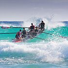 Surfboat at Narooma Beach by TonySlattery