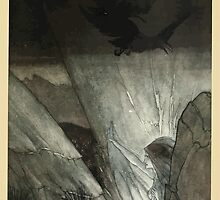 The Rhinegold & The Valkyrie by Richard Wagner art Arthur Rackham 1910 0141 Edra Bids Thee Beware by wetdryvac