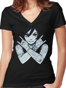 Vampire Queen Women's Fitted V-Neck T-Shirt