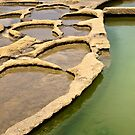 Saltpans Abstract - Portrait by PhotoWorks