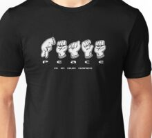 PEACE in Hand Signs Unisex T-Shirt