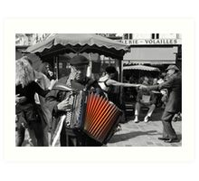 Street musician (Paris, France) Art Print