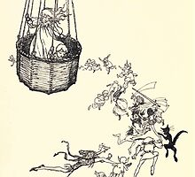 The Zankiwank & the Bletherwitch by Shafto Justin Adair Fitz Gerald art Arthur Rackham 1896 0101 Balloon by wetdryvac