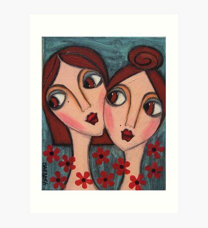A Sisters Bond Art Print