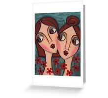A Sisters Bond Greeting Card