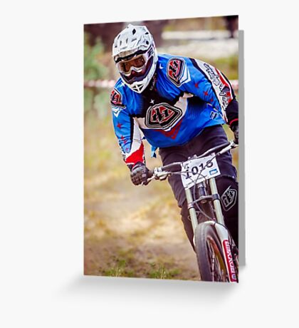 Downhill Stare Greeting Card