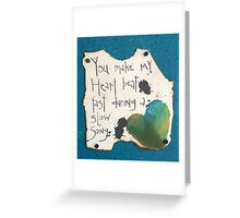 Heart Beat / Slow Song #2  Greeting Card