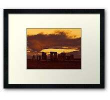 Stonehenge 6, photograph of the standing stones Framed Print