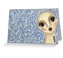 Bluehair doll Greeting Card