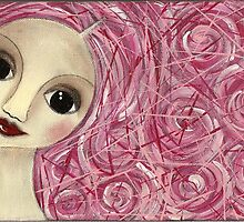 Pinkhair doll by Barbara Cannon  ART.. AKA Barbieville