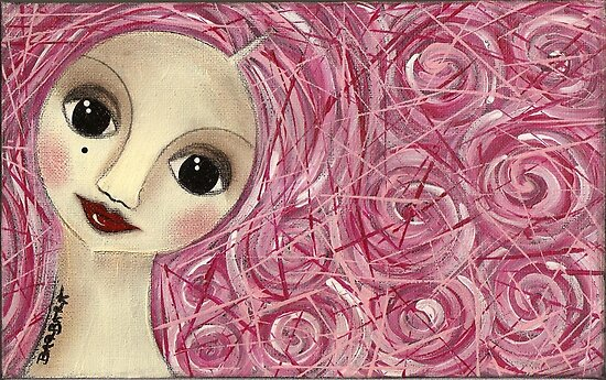 Pinkhair doll by Barbara Cannon  ART.. AKA Barbieville