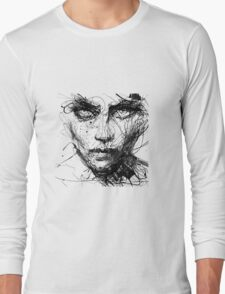Face Abstract Cool Long Sleeve T-Shirt