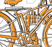 Steam Punk Cycling Sticker