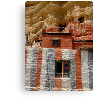 Cave Temple, Upper Mustang, Nepal Canvas Print