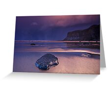 Passing snowstorm at Saltburn Greeting Card