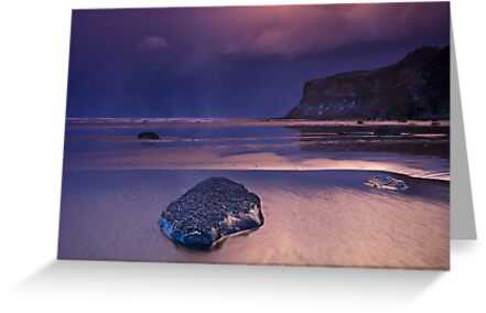 Passing snowstorm at Saltburn by Phillip Dove