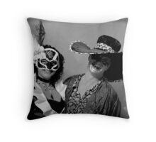 Lisa and I at Masked Ball Throw Pillow