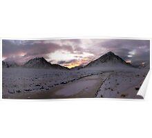 Sunset - Glen Etive and Stob Dearg Poster