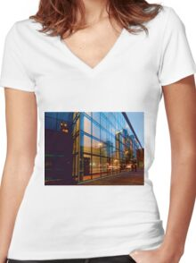 Minneapolis Reflections Women's Fitted V-Neck T-Shirt