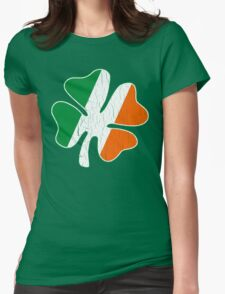 Giant Irish Shamrock (Vintage Distressed Design) Womens Fitted T-Shirt