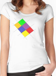 Colorful Udesign Women's Fitted Scoop T-Shirt