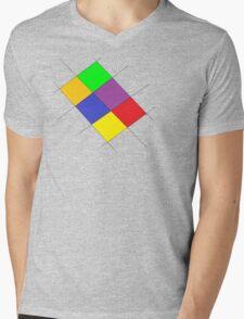 Colorful Udesign Mens V-Neck T-Shirt