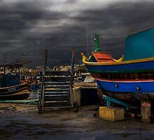 Study 'the Luzzu' - Malta's Unique Fishing Boat  by Edwin  Catania