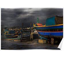 Study 'the Luzzu' - Malta's Unique Fishing Boat  Poster