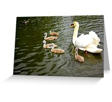 Mum with Babies Greeting Card