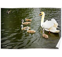 Mum with Babies Poster