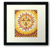 Leo - Shine your light into the world! Framed Print