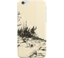 Snowdrop & Other Tales by Jacob Grimm art Arthur Rackham 1920 0090 Dogs on the Hill iPhone Case/Skin