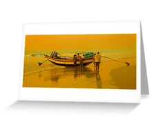 The Golden Light at Puri Sea Beach Greeting Card