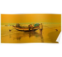 The Golden Light at Puri Sea Beach Poster